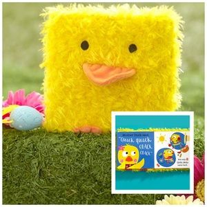 NWT! Child's Whimsical Fuzzy Duck Cover Book